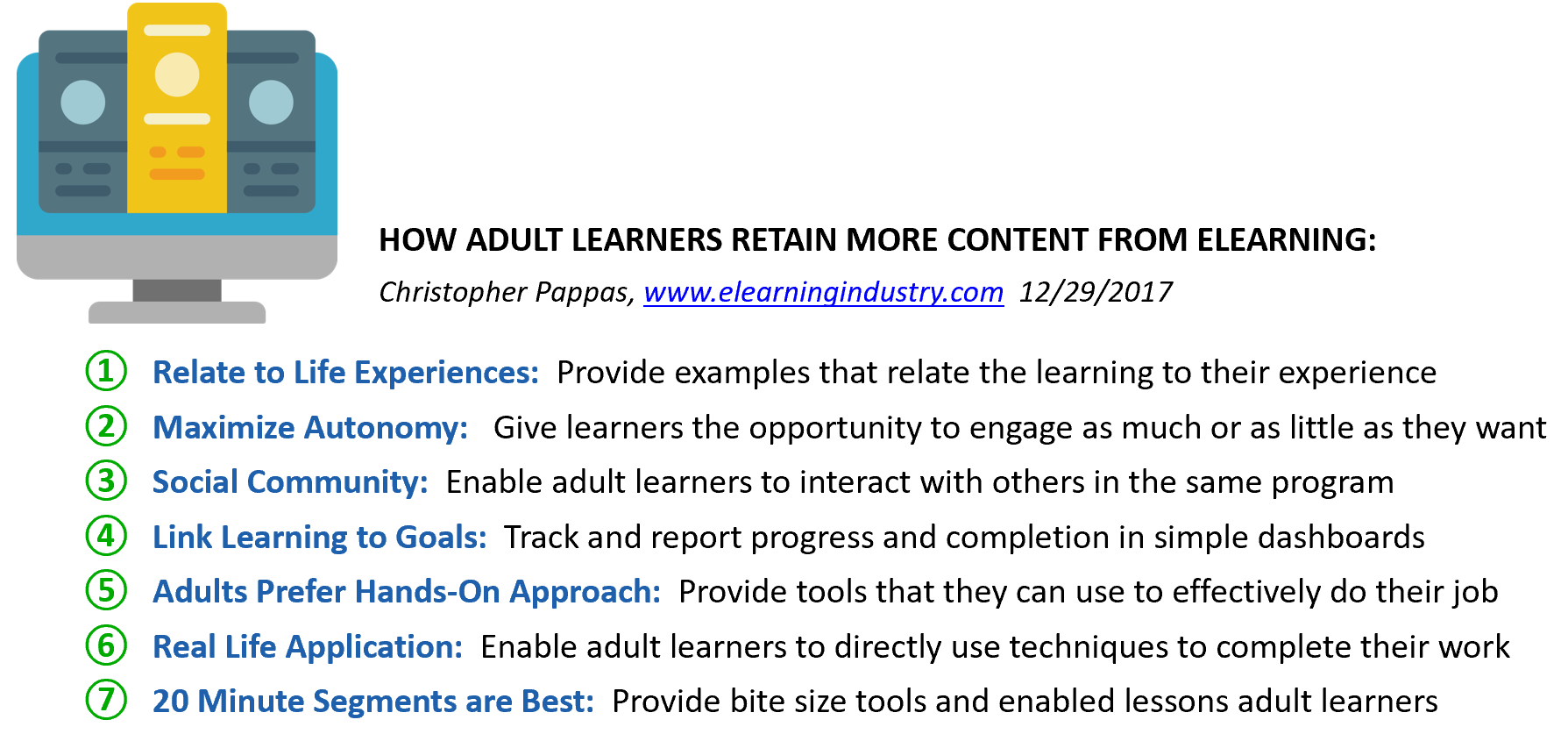 Content from Elearning
